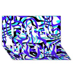 Ribbon Chaos Ocean Laugh Live Love 3D Greeting Card (8x4)  by ImpressiveMoments