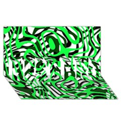 Ribbon Chaos Green Best Bro 3d Greeting Card (8x4)