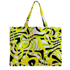 Ribbon Chaos Yellow Zipper Tiny Tote Bags by ImpressiveMoments