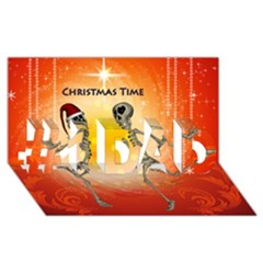 Dancing For Christmas, Funny Skeletons #1 Dad 3d Greeting Card (8x4)