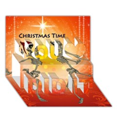 Dancing For Christmas, Funny Skeletons You Did It 3d Greeting Card (7x5) by FantasyWorld7