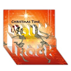 Dancing For Christmas, Funny Skeletons You Rock 3d Greeting Card (7x5)  by FantasyWorld7