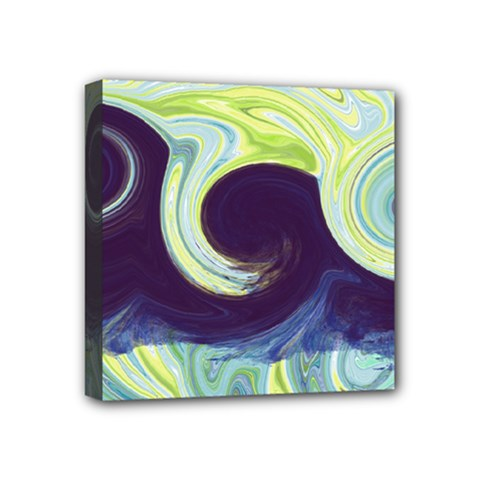 Abstract Ocean Waves Mini Canvas 4  X 4  by theunrulyartist