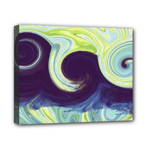 Abstract Ocean Waves Canvas 10  X 8  by theunrulyartist