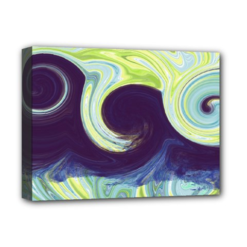 Abstract Ocean Waves Deluxe Canvas 16  X 12   by theunrulyartist