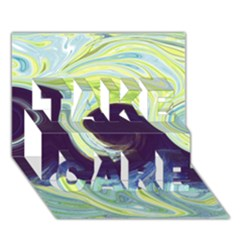 Abstract Ocean Waves Take Care 3d Greeting Card (7x5)