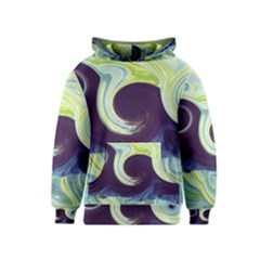 Abstract Ocean Waves Kid s Pullover Hoodies by theunrulyartist