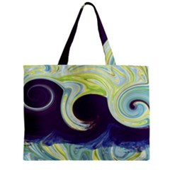 Abstract Ocean Waves Zipper Tiny Tote Bags by theunrulyartist