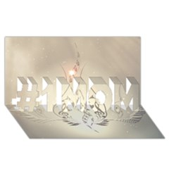 Music, Piano With Clef On Soft Background #1 Mom 3d Greeting Cards (8x4)  by FantasyWorld7