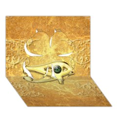 The All Seeing Eye With Eye Made Of Diamond Clover 3d Greeting Card (7x5)