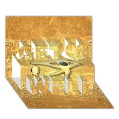The All Seeing Eye With Eye Made Of Diamond Get Well 3d Greeting Card (7x5)  by FantasyWorld7