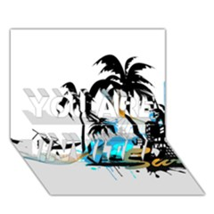 Surfing You Are Invited 3d Greeting Card (7x5)  by EnjoymentArt