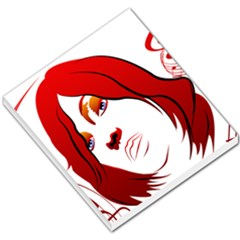 Women Face With Clef Small Memo Pads