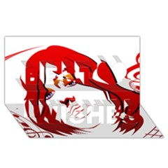 Women Face With Clef Best Wish 3d Greeting Card (8x4)  by EnjoymentArt