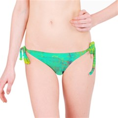 Abstract in Turquoise, Gold, and Copper Bikini Bottoms by theunrulyartist