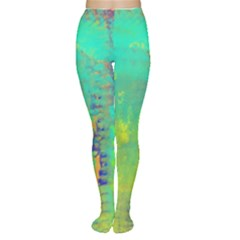 Abstract In Turquoise, Gold, And Copper Women s Tights by theunrulyartist