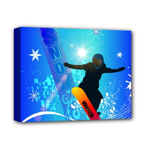 Snowboarding Deluxe Canvas 14  X 11  by FantasyWorld7