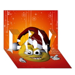 Cute Funny Christmas Smiley With Christmas Tree Boy 3d Greeting Card (7x5) by FantasyWorld7