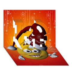 Cute Funny Christmas Smiley With Christmas Tree Love 3d Greeting Card (7x5)
