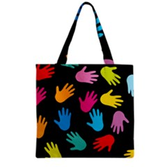 All Over Hands Grocery Tote Bags by ImpressiveMoments