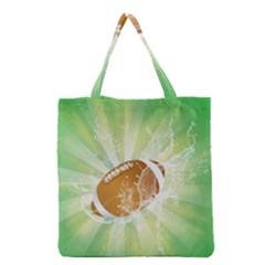 American Football  Grocery Tote Bags by FantasyWorld7