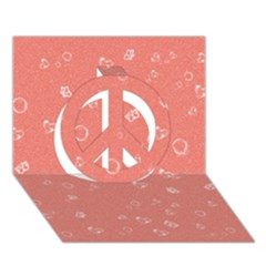 Sweetie Peach Peace Sign 3D Greeting Card (7x5)
