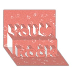 Sweetie Peach You Rock 3d Greeting Card (7x5)