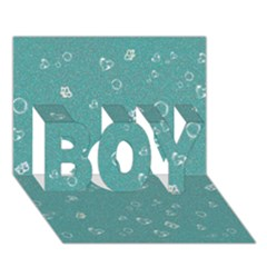 Sweetie Soft Teal Boy 3d Greeting Card (7x5) by MoreColorsinLife