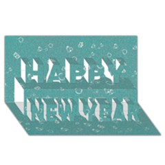 Sweetie Soft Teal Happy New Year 3d Greeting Card (8x4)