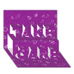 Sweetie,purple Take Care 3d Greeting Card (7x5)