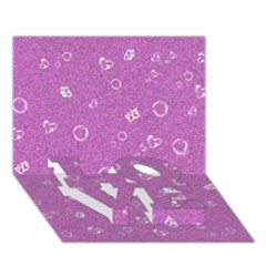 Sweetie,pink Love Bottom 3d Greeting Card (7x5)
