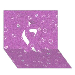 Sweetie,pink Ribbon 3d Greeting Card (7x5)  by MoreColorsinLife