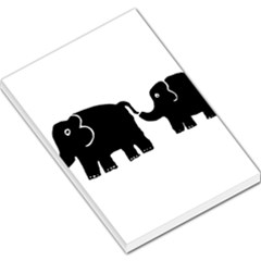 Elephant And Calf Large Memo Pads by julienicholls