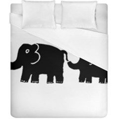 Elephant And Calf Duvet Cover Single Side (Double Size) by julienicholls