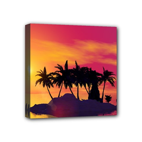 Wonderful Sunset Over The Island Mini Canvas 4  X 4  by FantasyWorld7