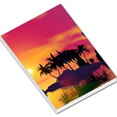 Wonderful Sunset Over The Island Large Memo Pads