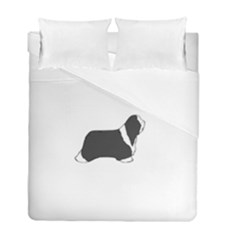 Bearded Collie color silhouette Duvet Cover (Twin Size) by TailWags