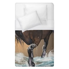 Beautiful Horse With Water Splash Duvet Cover Single Side (single Size) by FantasyWorld7