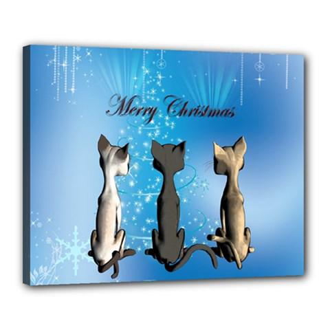 Merry Chrsitmas Canvas 20  X 16  by FantasyWorld7