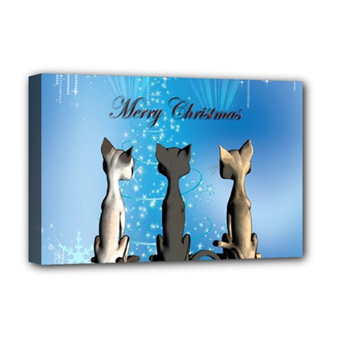 Merry Chrsitmas Deluxe Canvas 18  X 12   by FantasyWorld7
