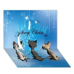 Merry Chrsitmas Apple 3d Greeting Card (7x5)