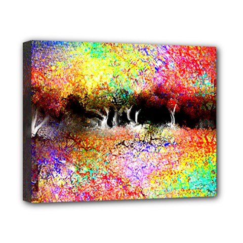 Colorful Tree Landscape Canvas 10  X 8  by theunrulyartist