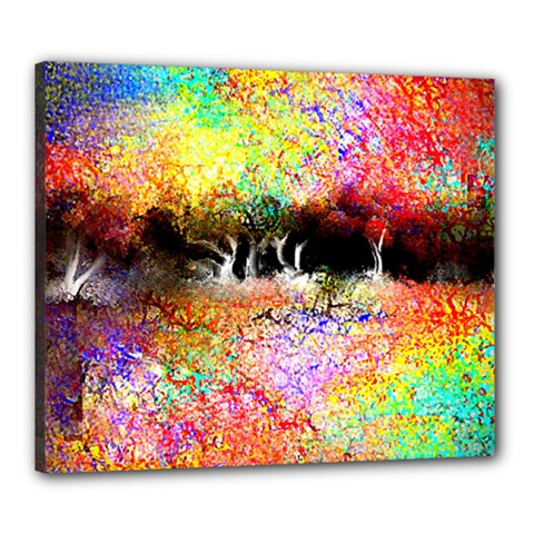 Colorful Tree Landscape Canvas 24  X 20  by theunrulyartist