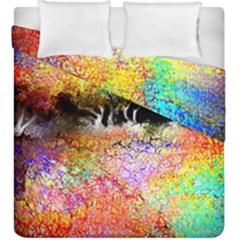 Colorful Tree Landscape Duvet Cover (king Size)