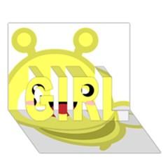 Kawaii Bee Girl 3d Greeting Card (7x5)  by KawaiiKawaii