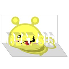 Kawaii Bee Best Sis 3d Greeting Card (8x4)