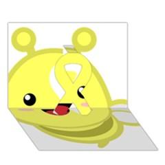 Kawaii Bee Ribbon 3d Greeting Card (7x5)  by KawaiiKawaii