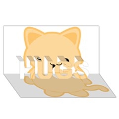 Kawaii Cat Hugs 3d Greeting Card (8x4)