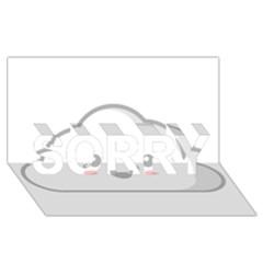 Kawaii Cloud Sorry 3d Greeting Card (8x4)  by KawaiiKawaii