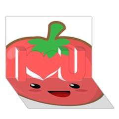 Kawaii Tomato I Love You 3d Greeting Card (7x5)  by KawaiiKawaii